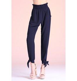 Tie Detail Pants - Black