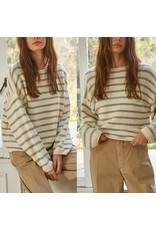 Striped Sweater - Sage
