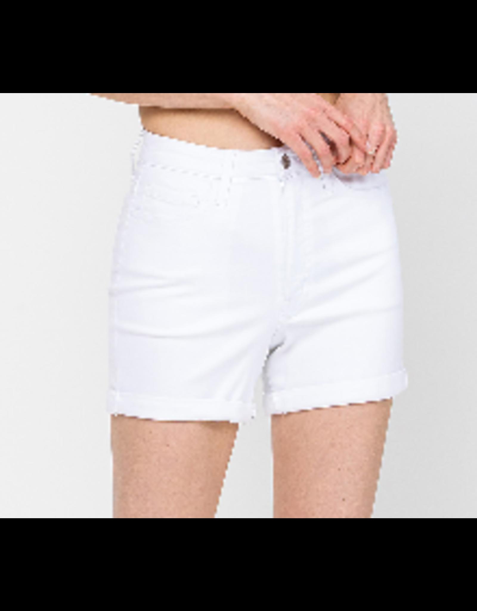 White High Rise Shorts