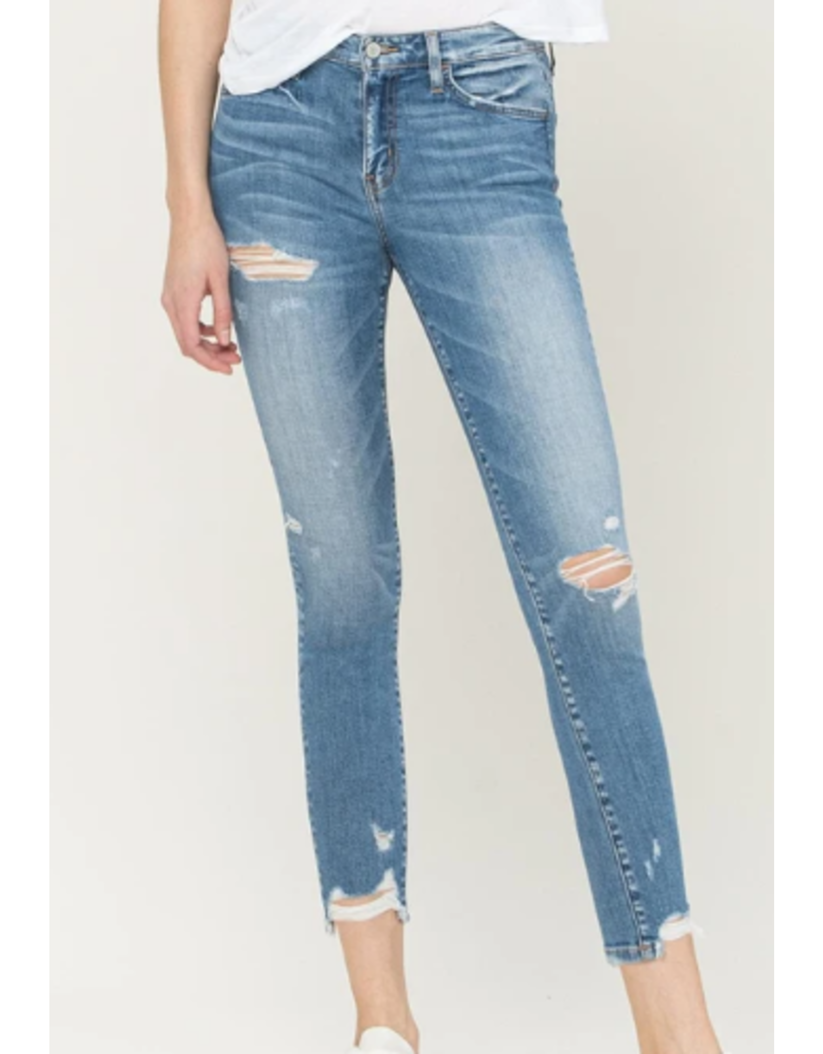Mid Rise Cropped Skinny Jeans