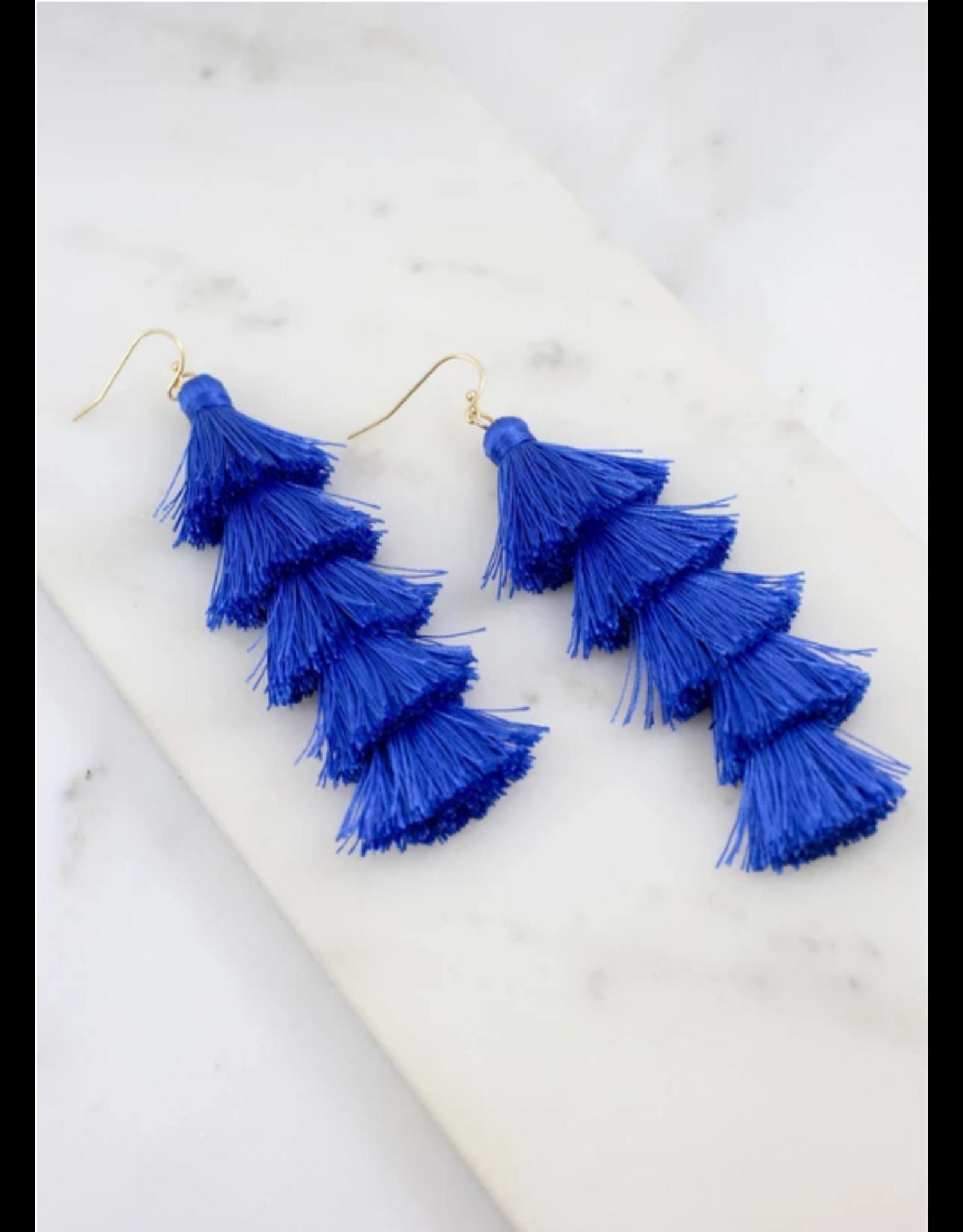 Sevena Earrings - Blue
