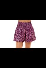 Satin Leopard Shorts - Pink
