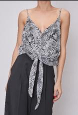 Leopard Tie Detail Bodysuit - Black