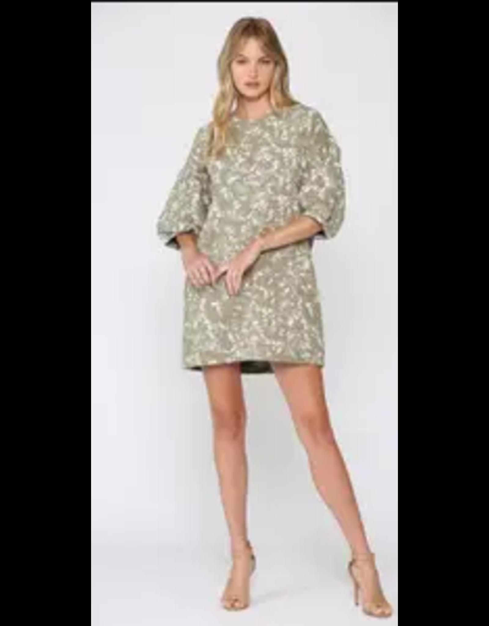 Splatter French Terry Dress - Sage