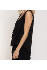 Twisted Lace Detail Top - Black