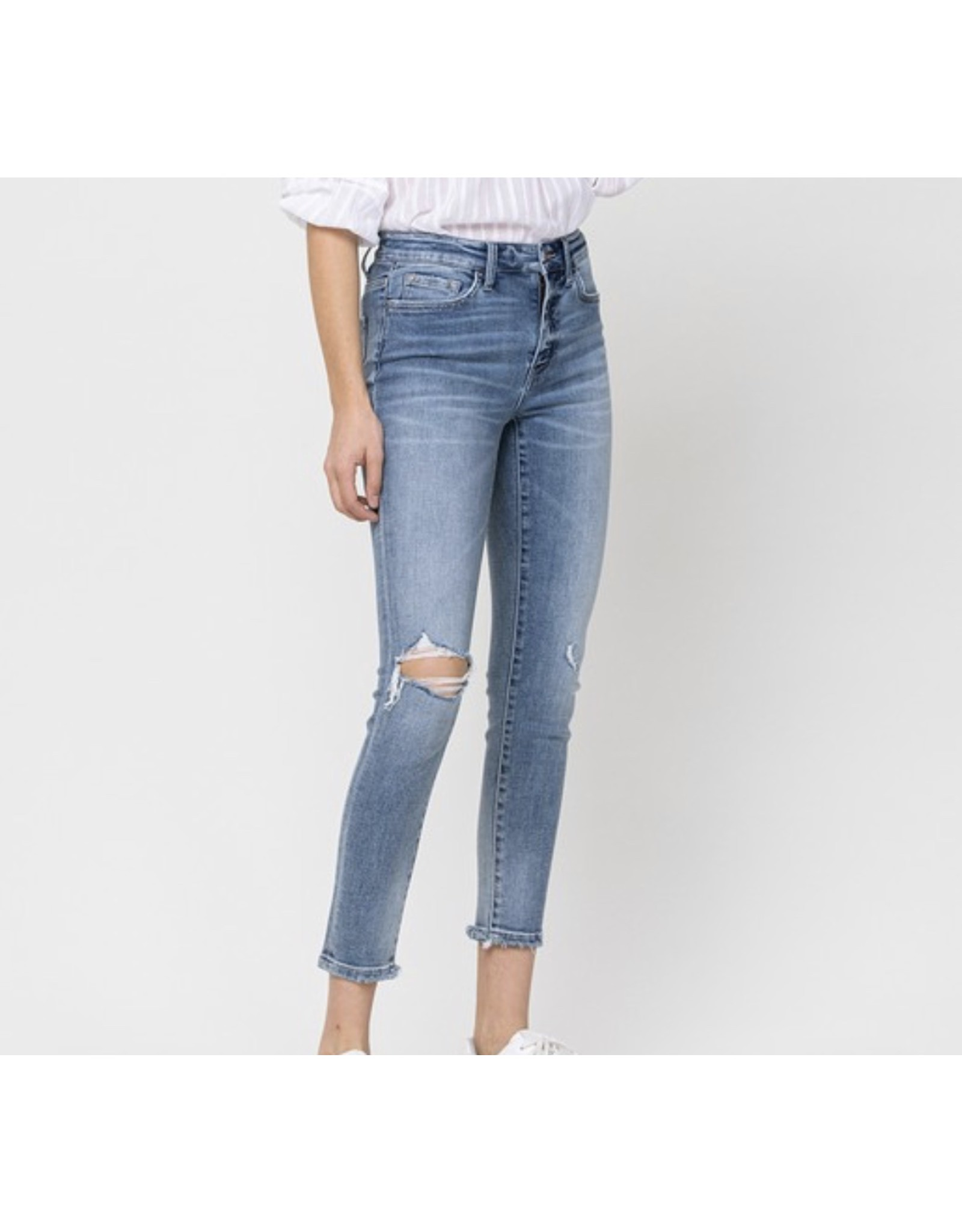 Amelia  Mid Rise Cropped Skinny Jeans