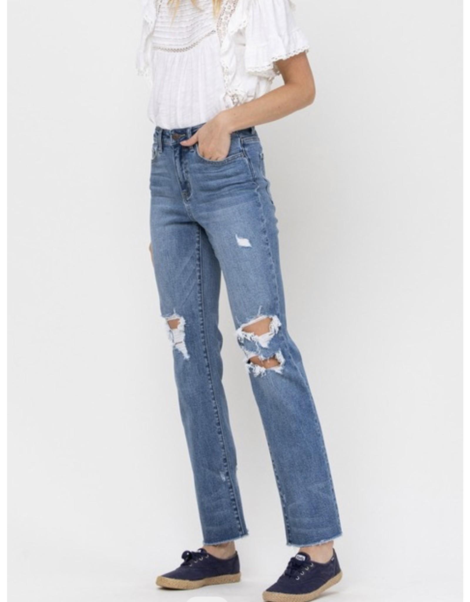 Lara High Rise Straight Jeans