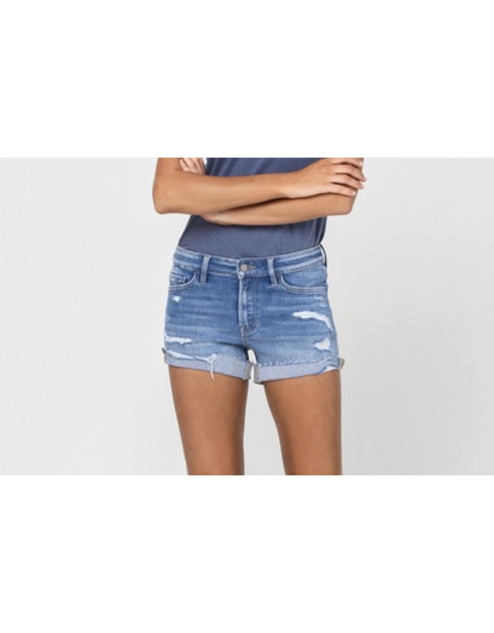 Audra High Rise Denim Shorts