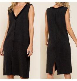 Ribbed Knit Dress - Black