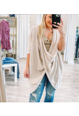 Twisted Front Sweater Tunic - Natural