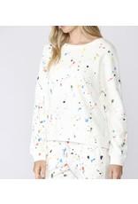 Paint Splatter Sweatshirt - Cream