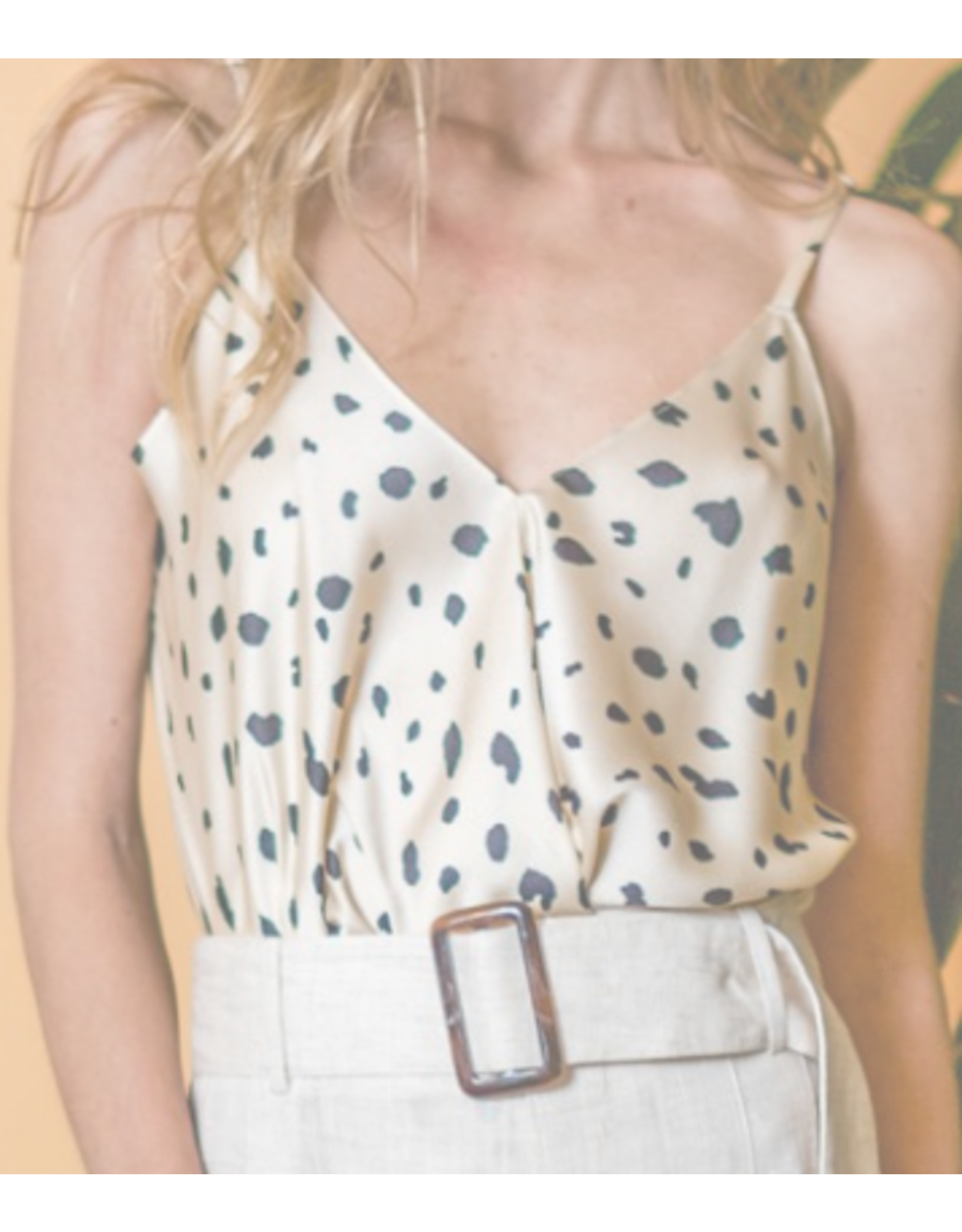 Leopard Cami Top - Ivory