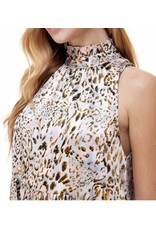 Ruffle Leopard Dress - Pink