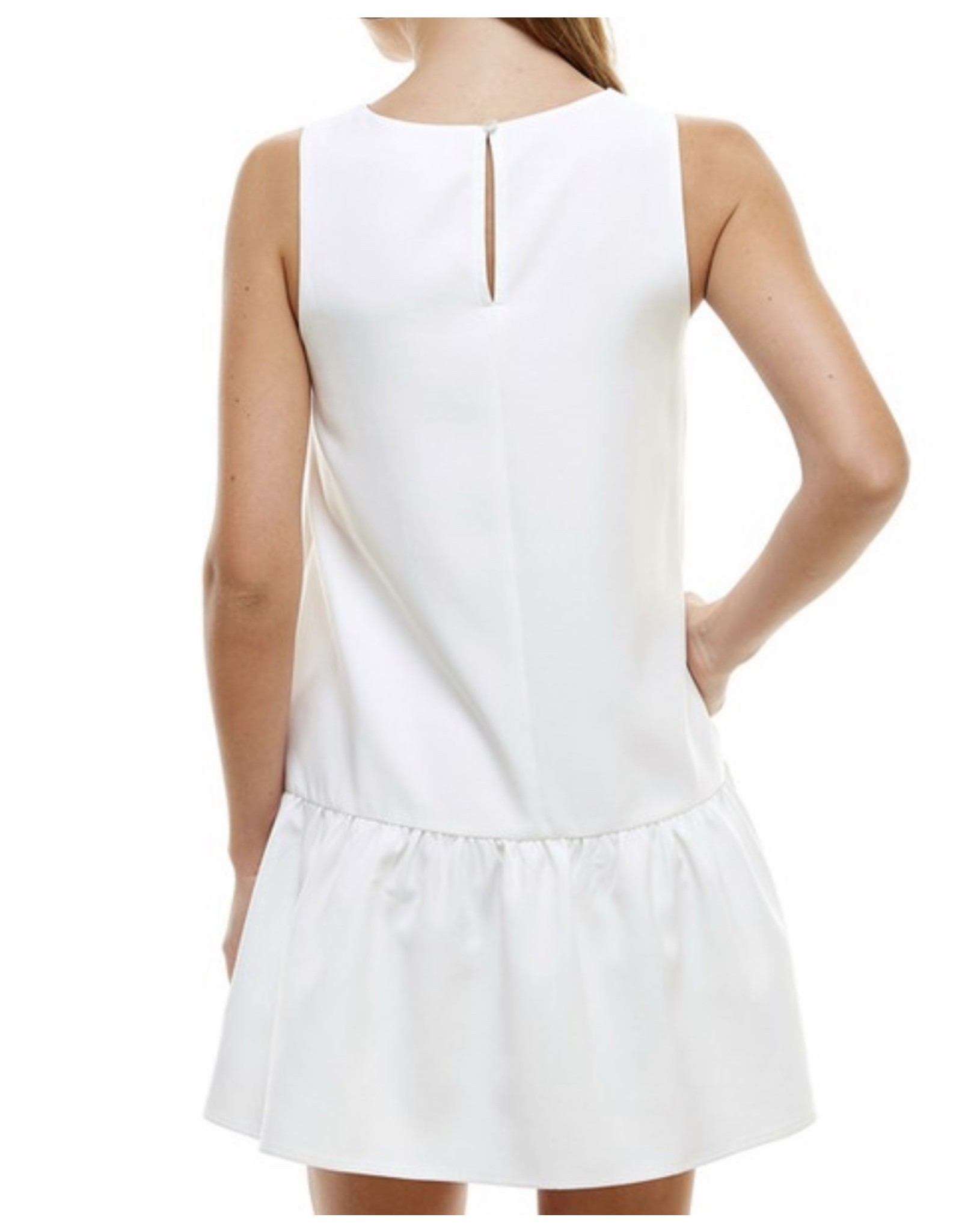 Ruffle Detail Dress - White