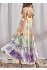 Storia Tie Dye Rainbow Maxi Dress