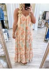 Fanco Tie Dye Maxi Dress - Mint/Orange
