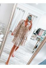 Velvet Burnout Dress - Mauve