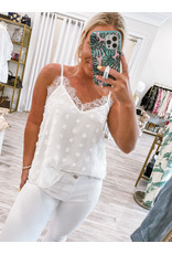 Beavely Lace Detail Swiss Dot Cami