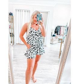Vanessa Leopard Shorts - White
