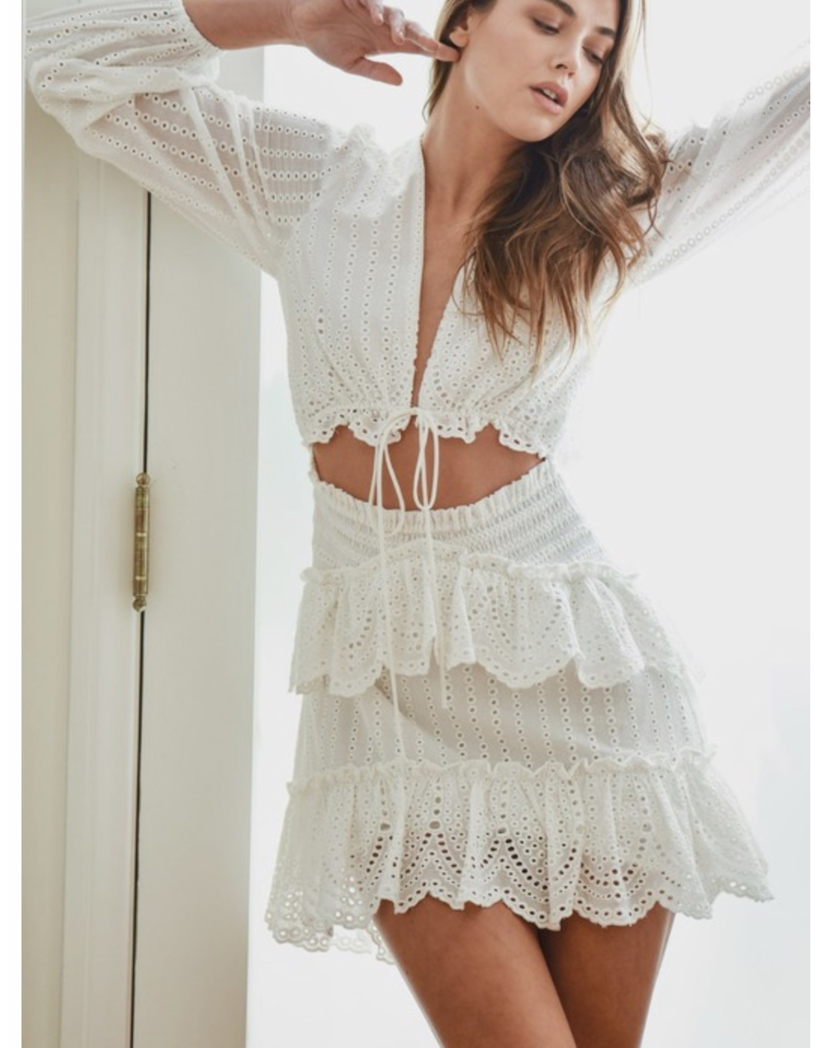 MABLE Eyelet Dress - Off White