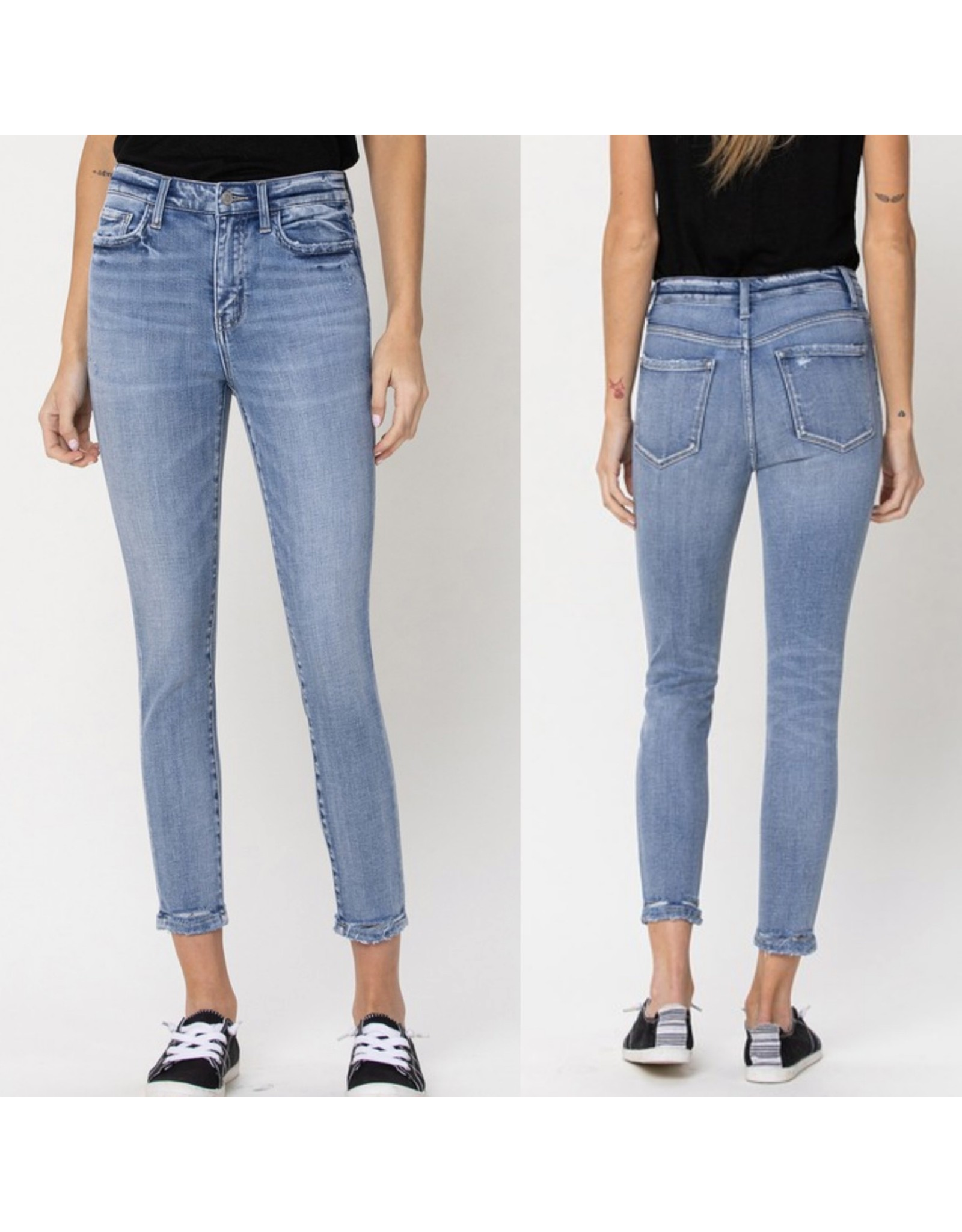 Farrah High Rise Cropped Skinny Jeans