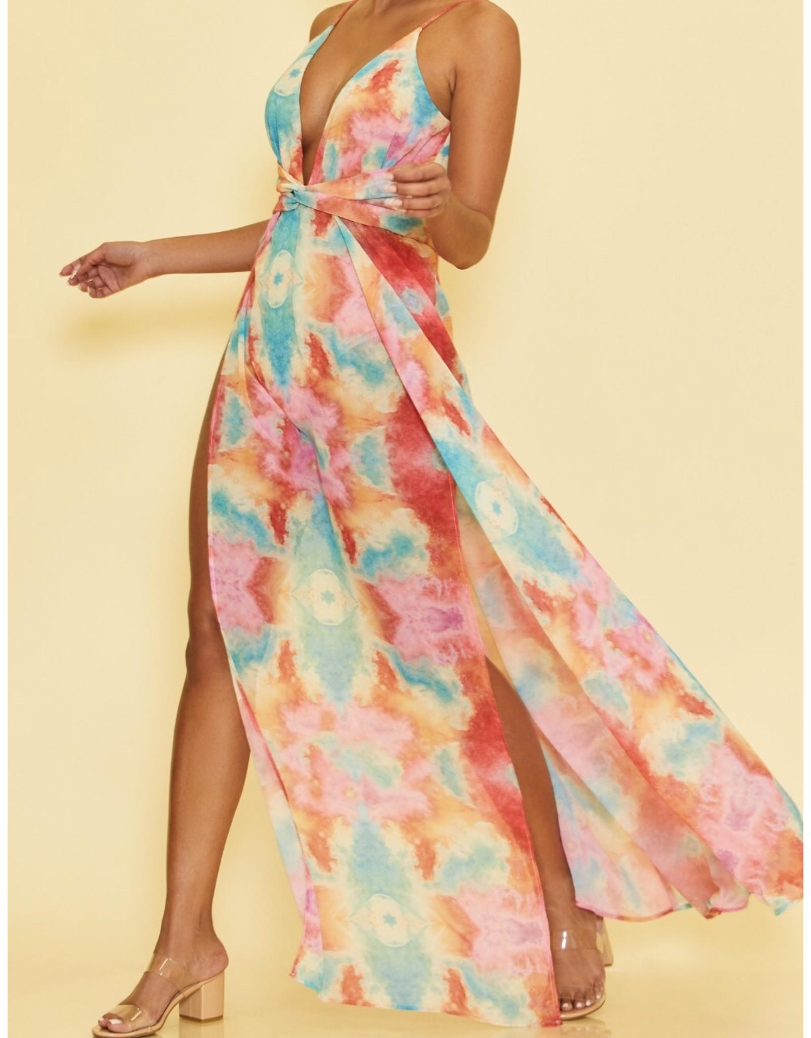 Tie Dye Maxi Dress - Multi