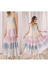 Storia Tie Dye Rainbow Maxi Dress - Pastel