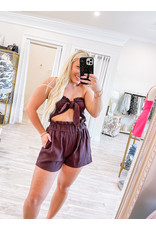 MABLE Tube Tie Top and Shorts Set
