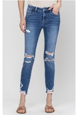 Lena Mid Rise Cropped Skinny Jeans