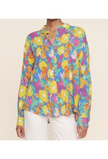 Sugarlips Floral Button Down Shirt - Blue
