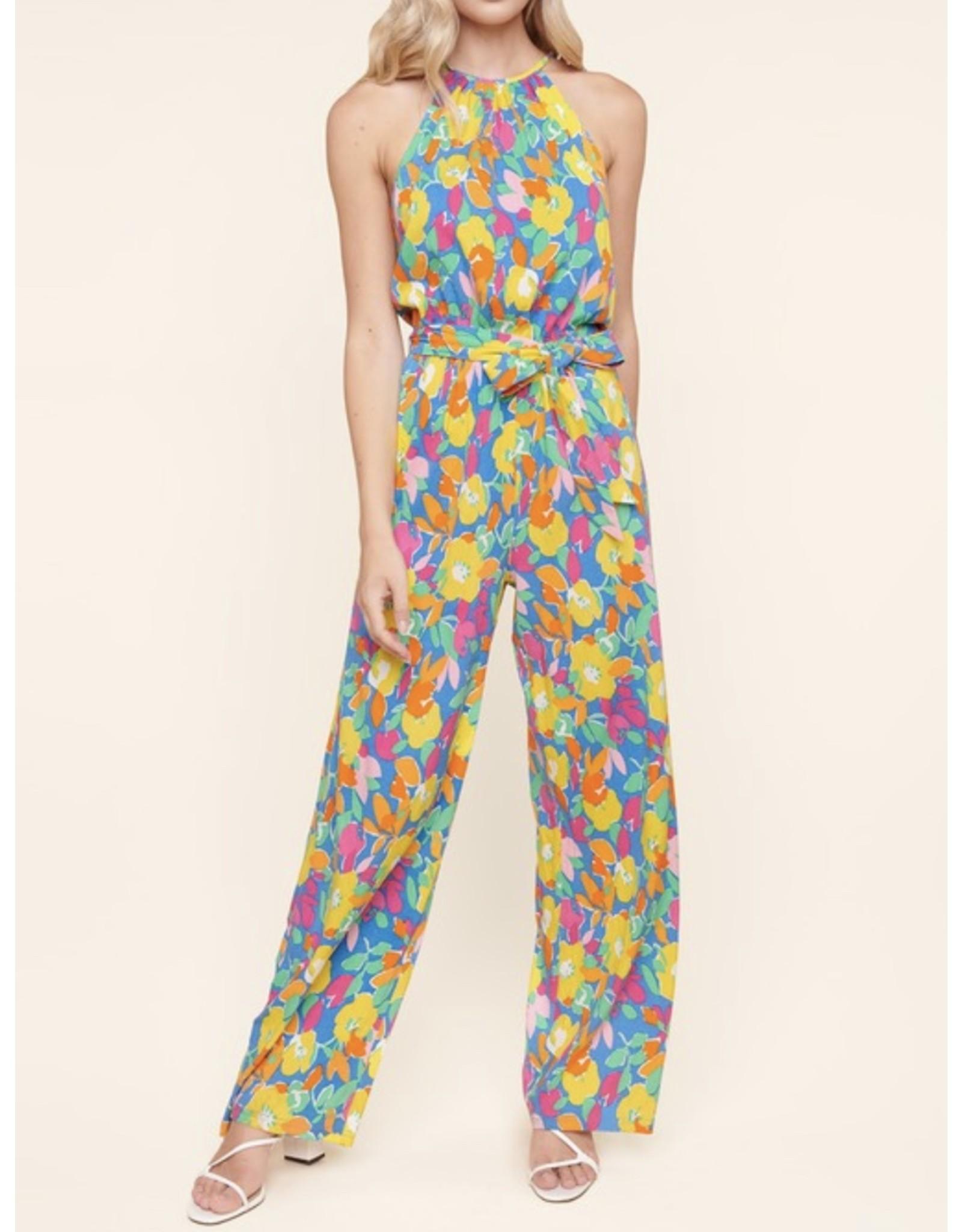 Sugarlips Floral Jumpsuit - Blue