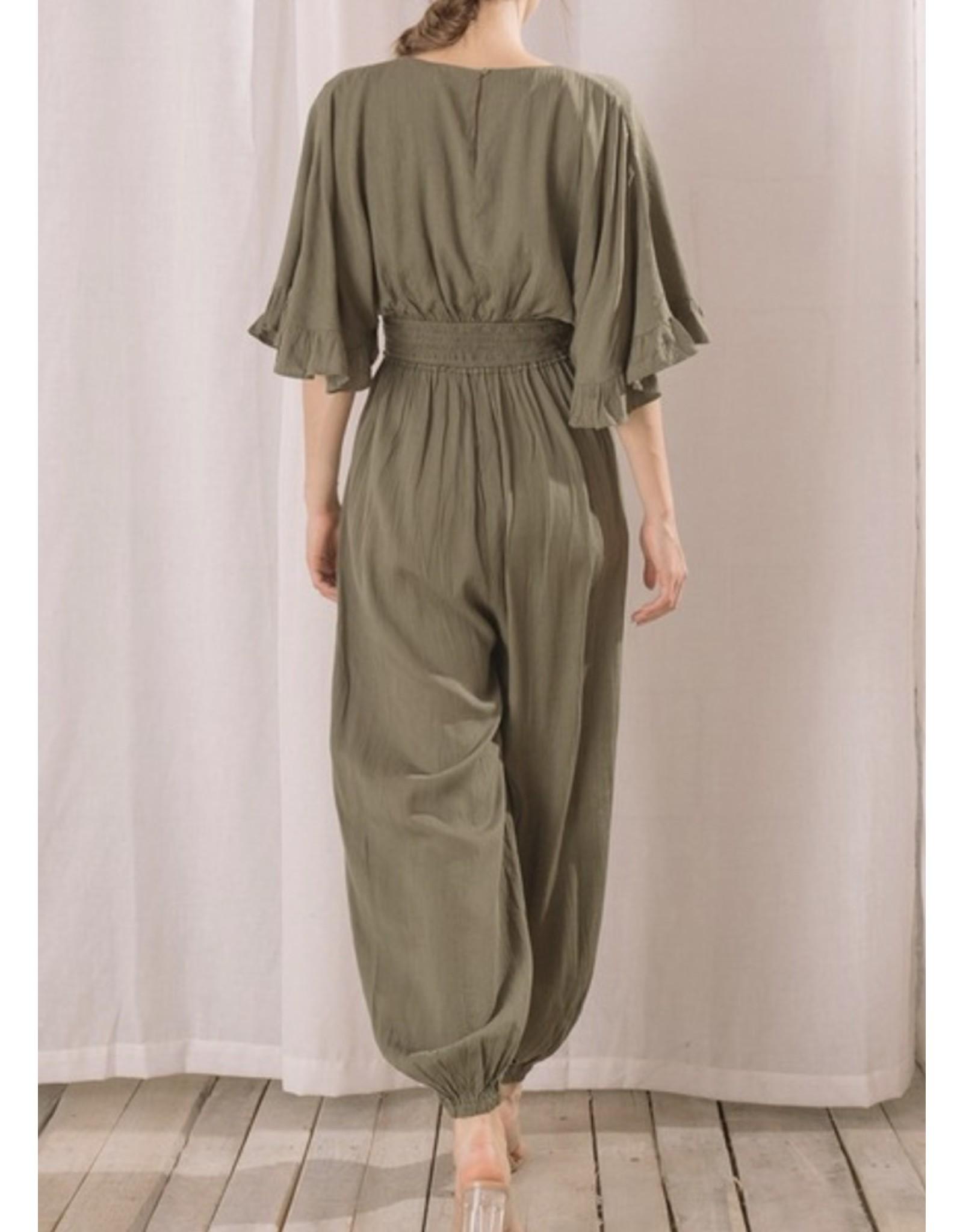 Storia Dolman Sleeves Jumpsuit - Olive