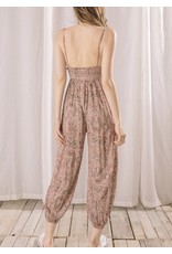 Storia Floral and Paisley Jumpsuit - Berry
