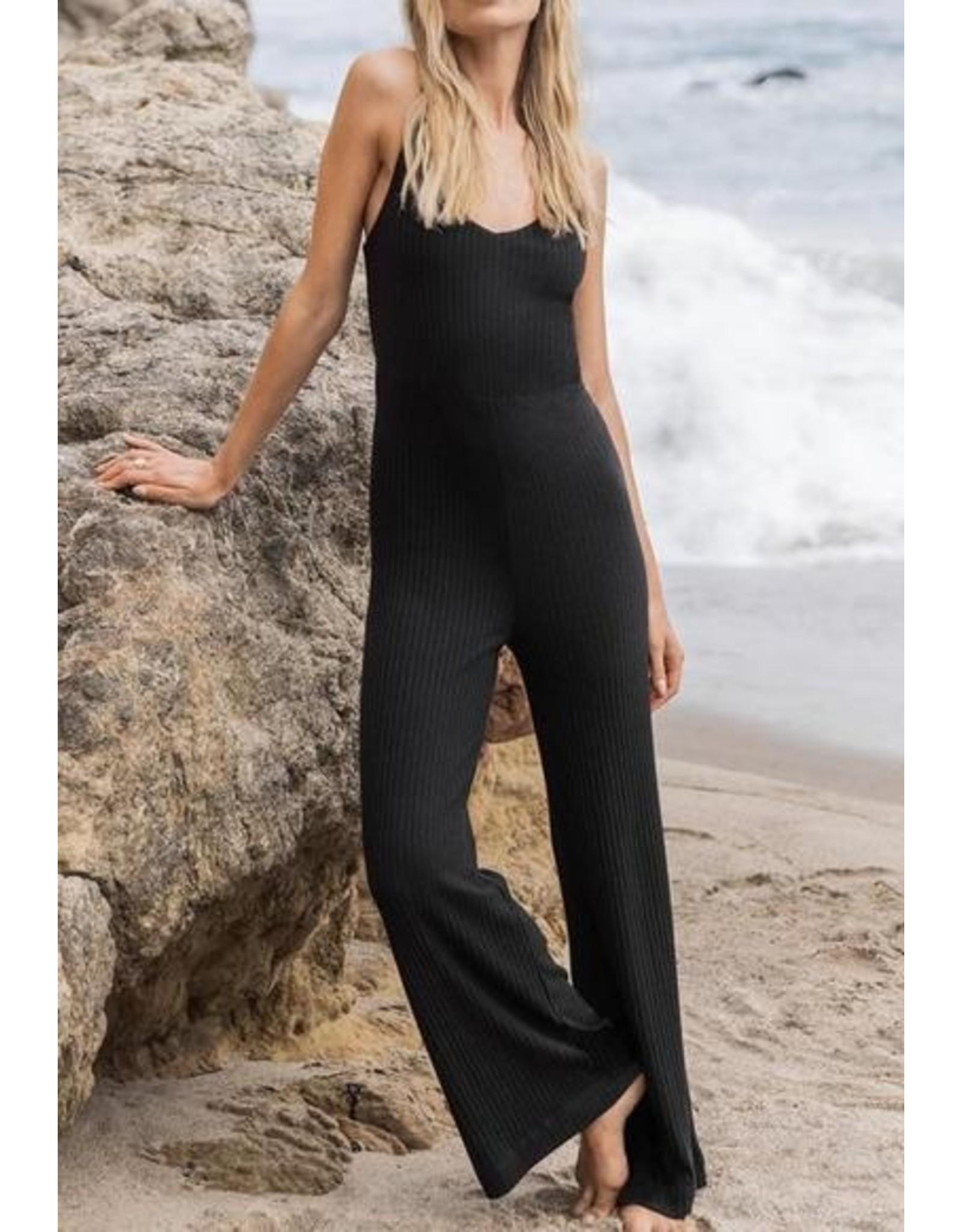 Z Supply Z Supply Ribbed Jumpsuit - Black
