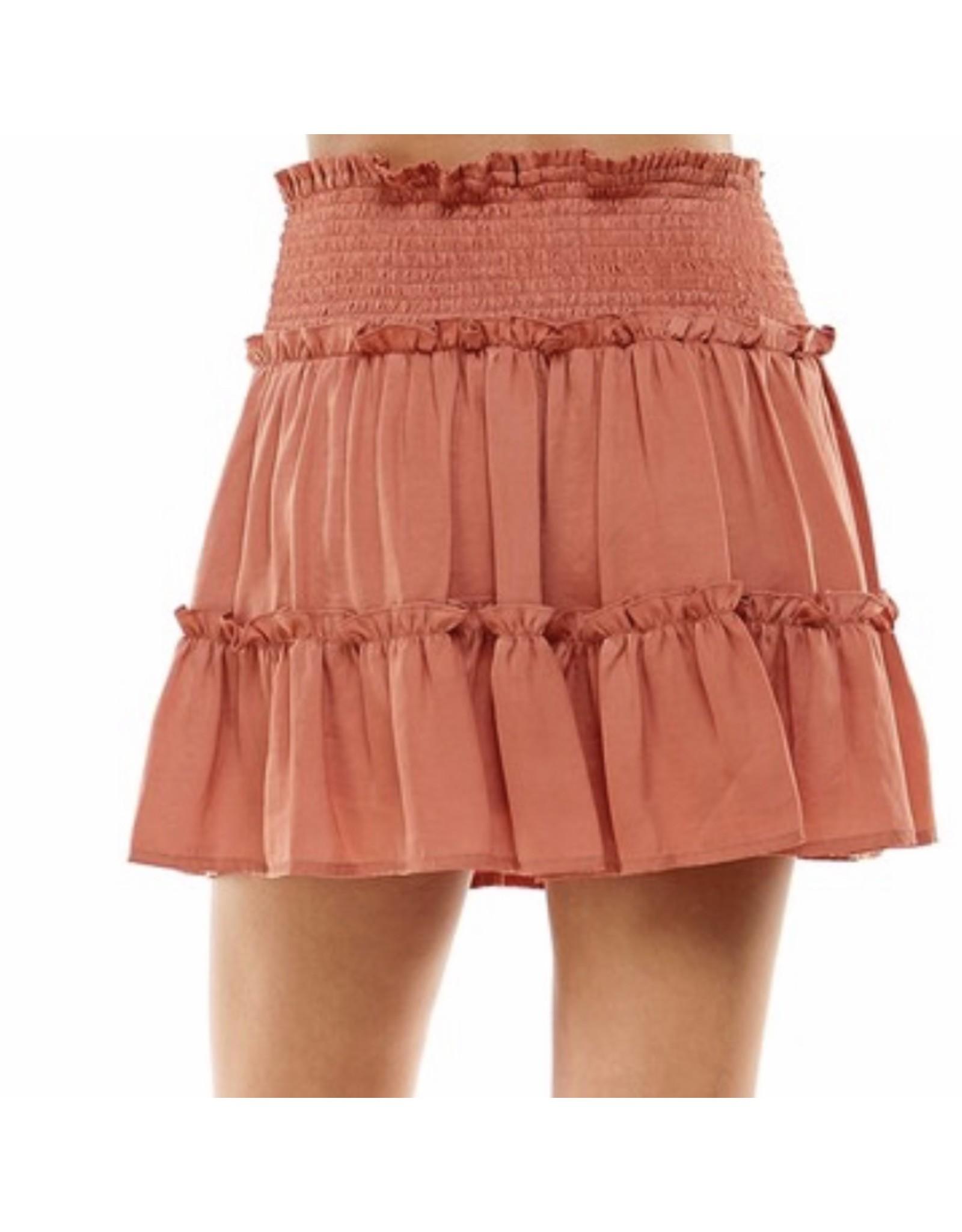 Ruffle Skirt - Copper