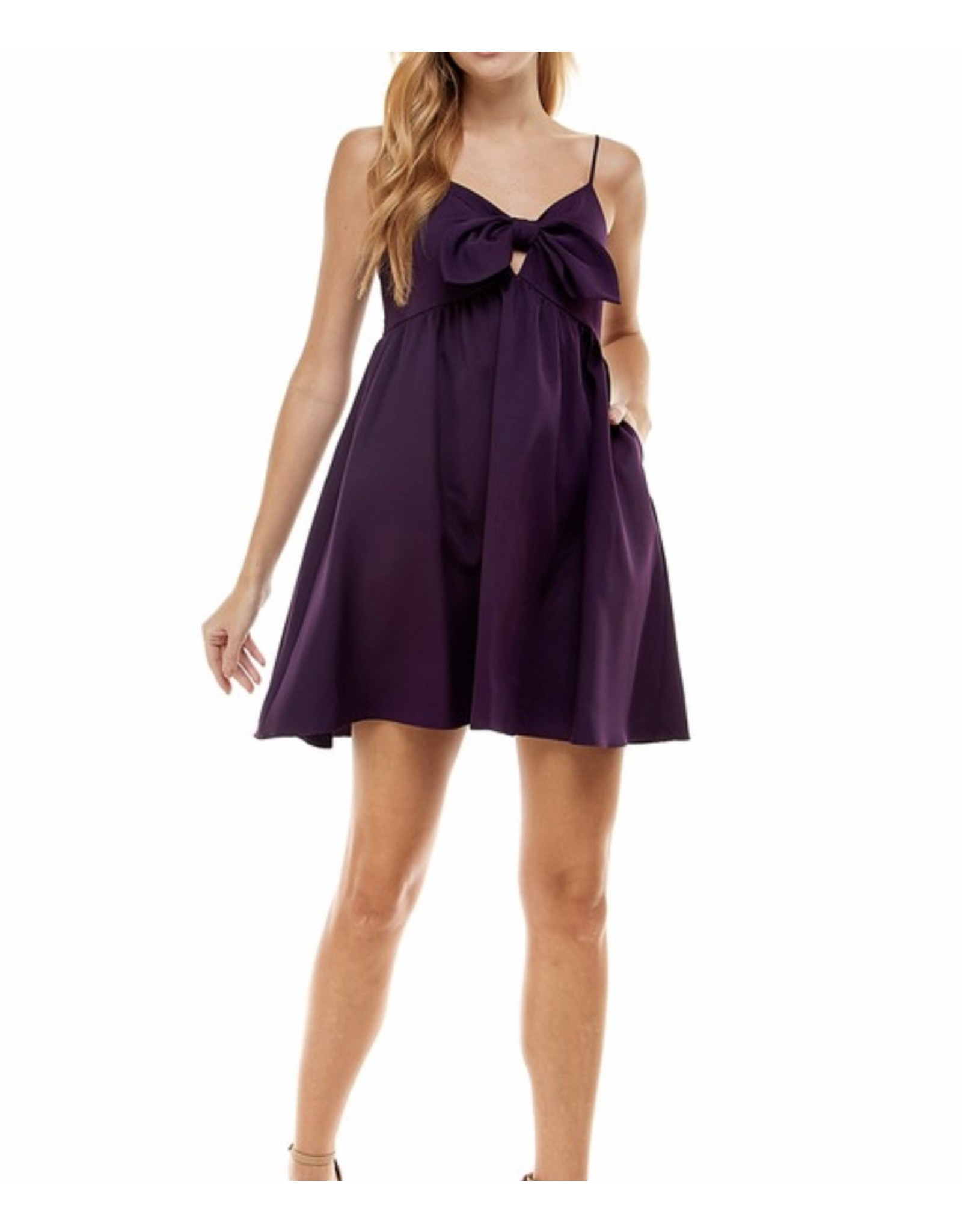Bow Detail Dress - Purple