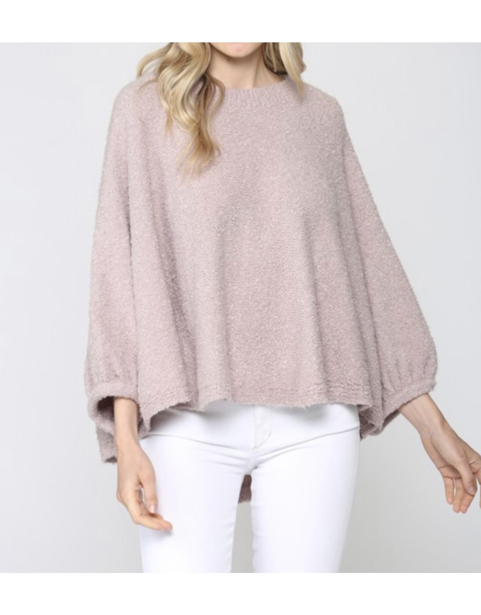 Poncho Sweater - Blush