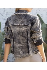 Studded Corduroy Jacket - Black