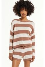 Z Supply Seinna Striped Sweater - Taupe