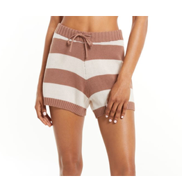 Z Supply Terrace Striped Sweater Shorts - Taupe