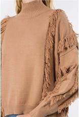 Fanco Fringe Turtle Neck Sweater