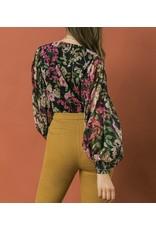 Floral Bodysuit - Black