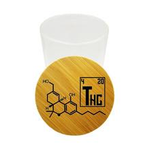 Tahoe Bamboo/Glass Stash THC Molecule