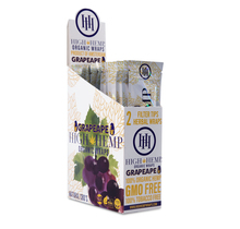 High Hemp Organic CBD Wraps Grape Ape (BOX)