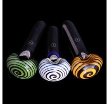 Zenesis Glass Black Spiral Lollipop Spoon