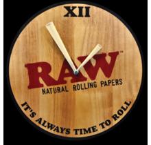Raw Wooden Clock