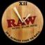 Raw Raw Wooden Clock