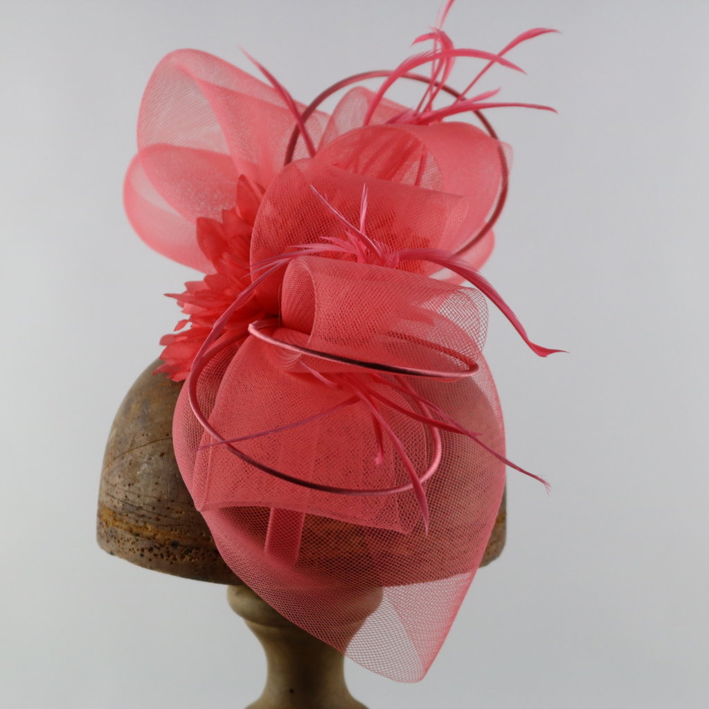 Something Special CRINOLINE FASCINATOR WITH SATIN HOOPS