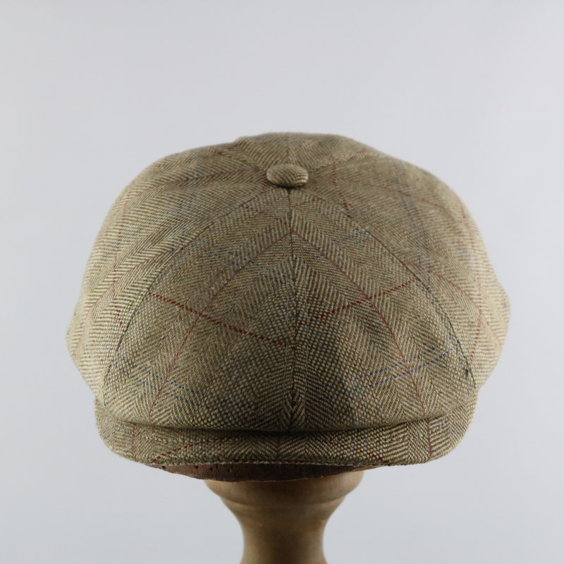 MAGILL HAT SILK NEWSBOY CAP