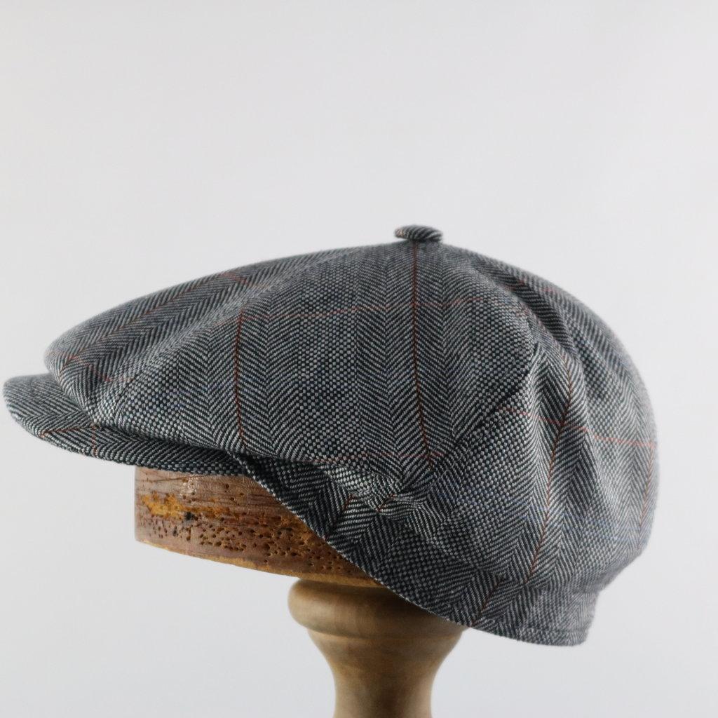 MAGILL HAT SILK NEWSBOY CAP
